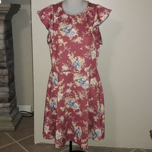 Womens sz M Xhilaration floral dress like new